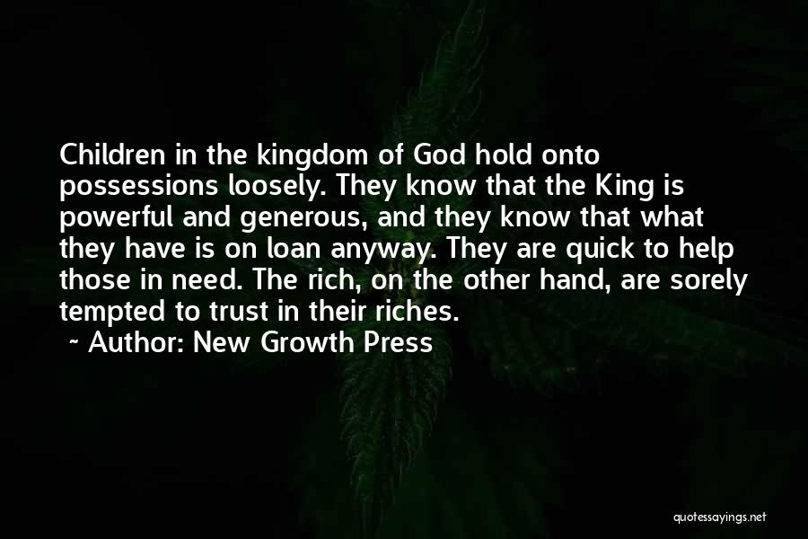 Trust In God Quotes By New Growth Press