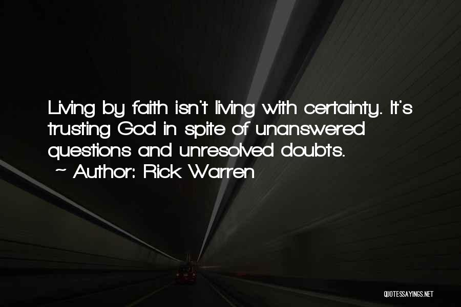 Trust In God Quotes By Rick Warren