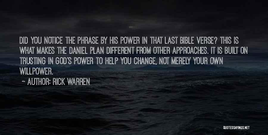 Trusting God's Plan Quotes By Rick Warren
