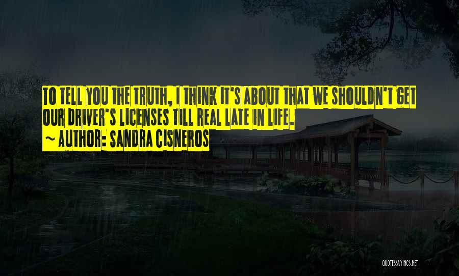 Truth About Life Quotes By Sandra Cisneros