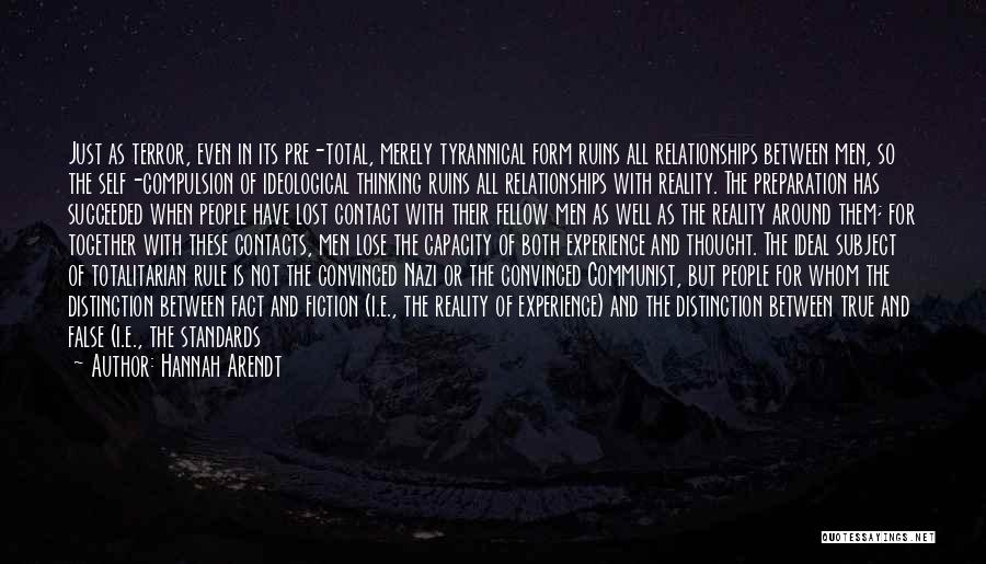 Truth And Fiction Quotes By Hannah Arendt