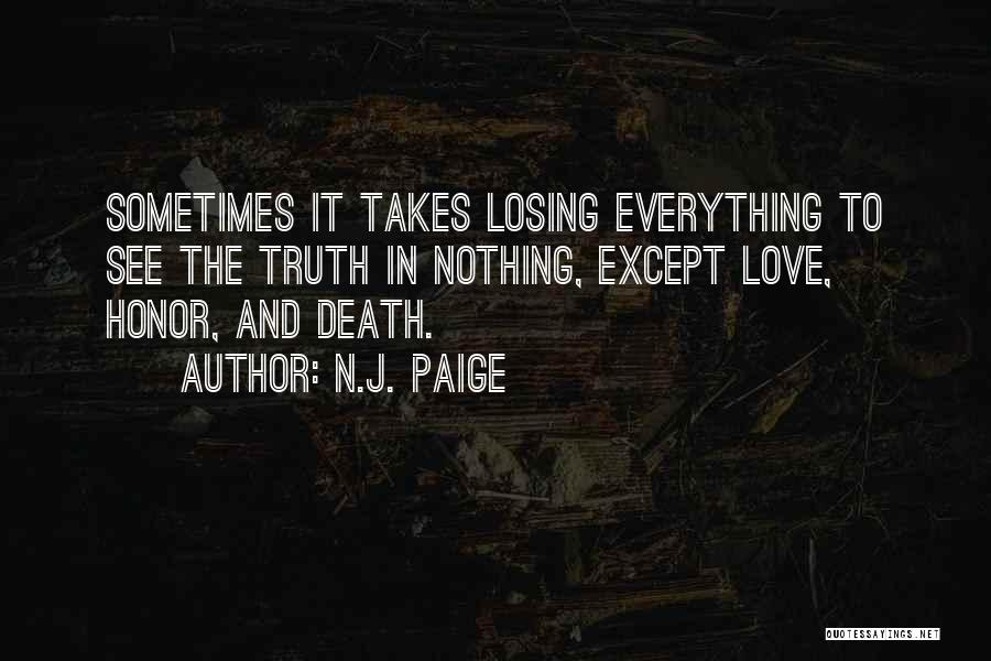 Truth And Fiction Quotes By N.J. Paige