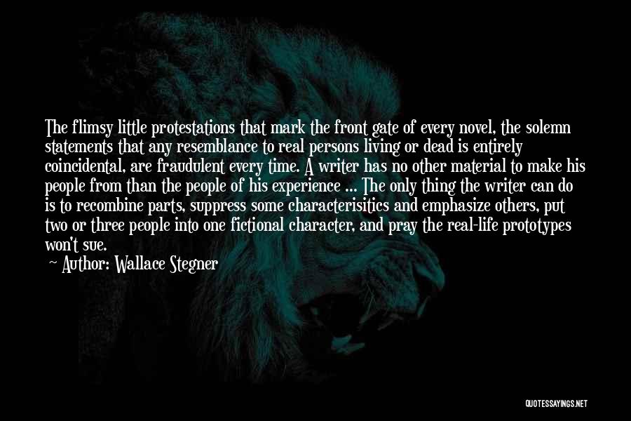 Truth And Fiction Quotes By Wallace Stegner