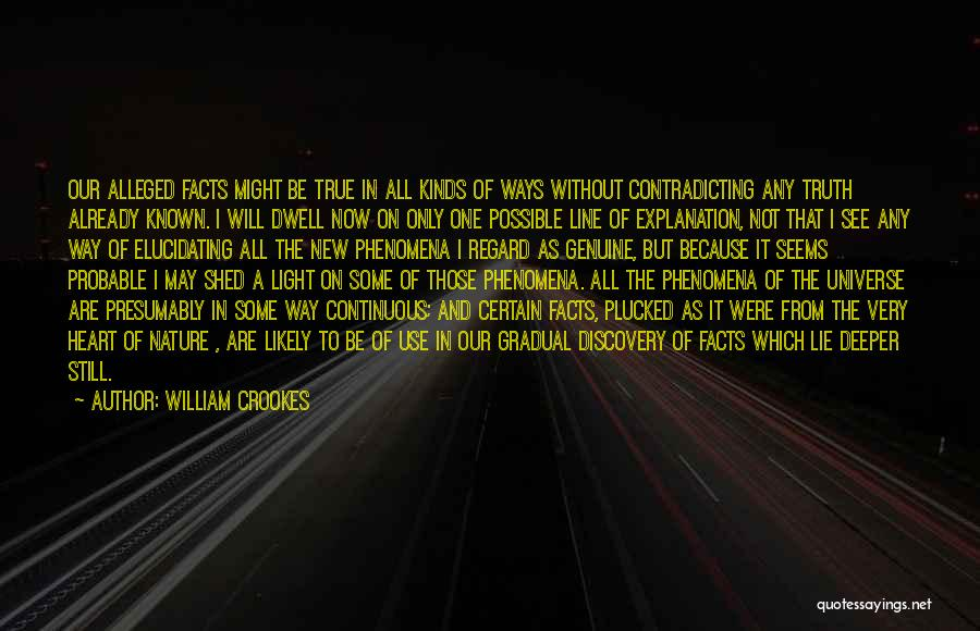 Truth Be Known Quotes By William Crookes