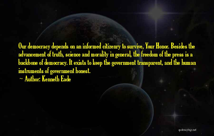 Truth In Government Quotes By Kenneth Eade