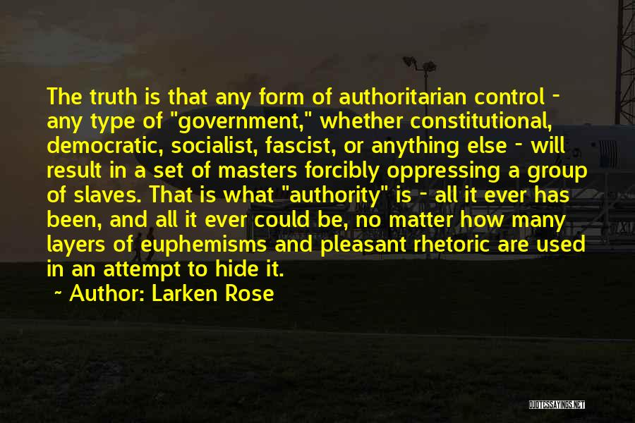 Truth In Government Quotes By Larken Rose