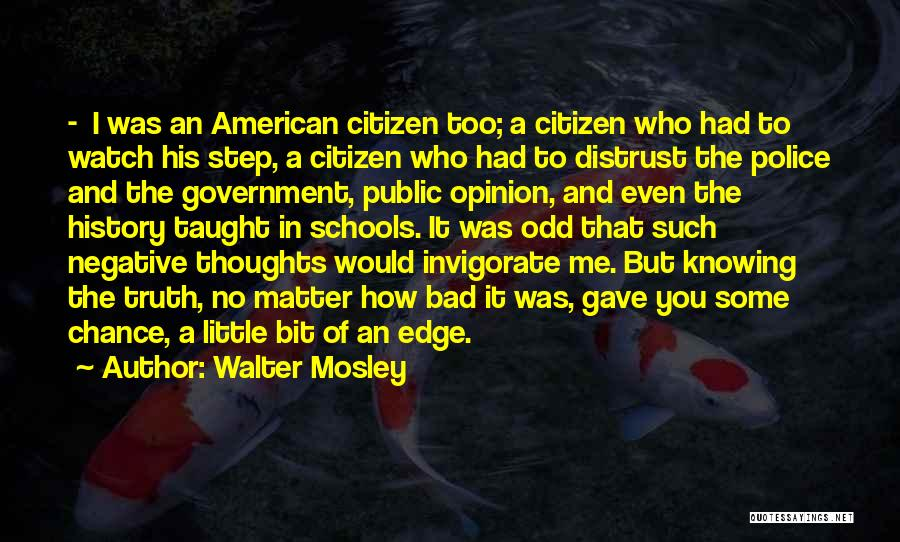 Truth In Government Quotes By Walter Mosley