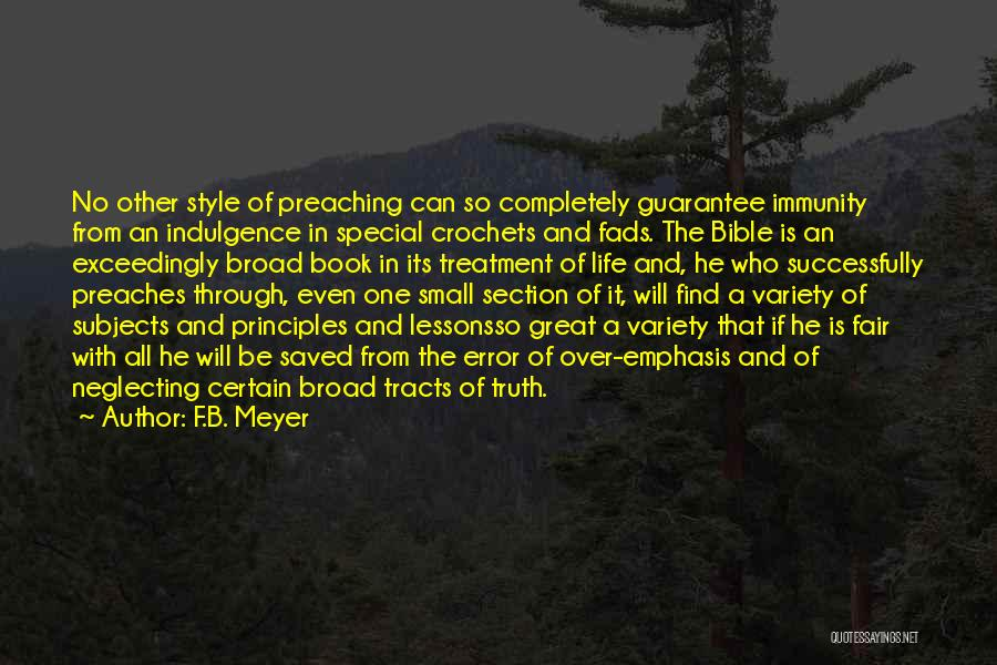 Truth In The Bible Quotes By F.B. Meyer