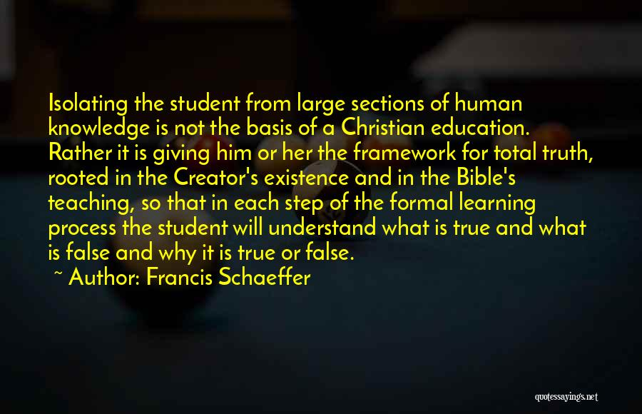 Truth In The Bible Quotes By Francis Schaeffer
