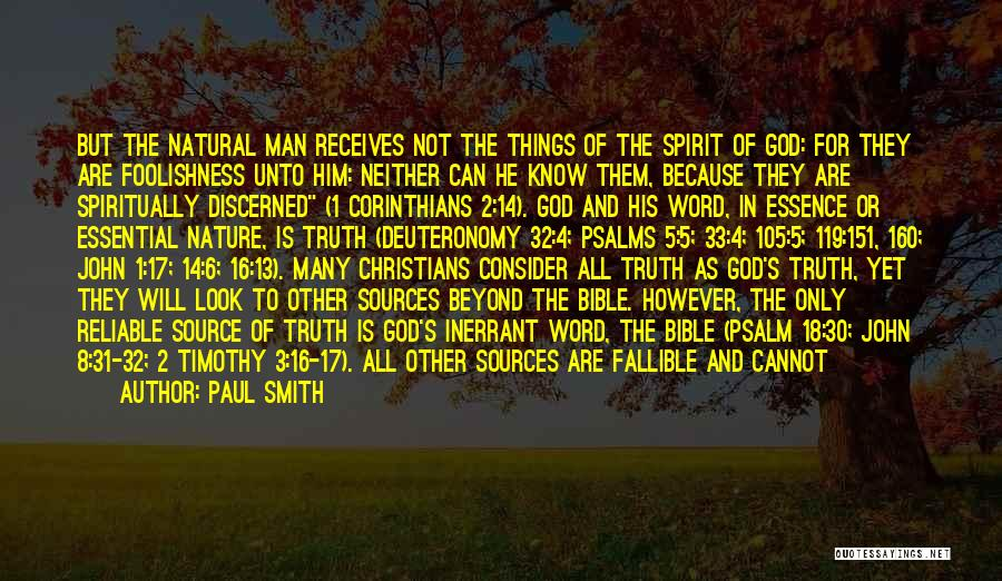 Truth In The Bible Quotes By Paul Smith