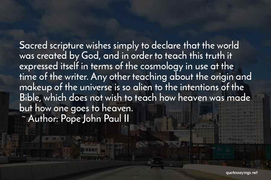 Truth In The Bible Quotes By Pope John Paul II