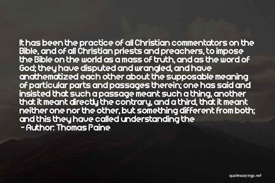 Truth In The Bible Quotes By Thomas Paine