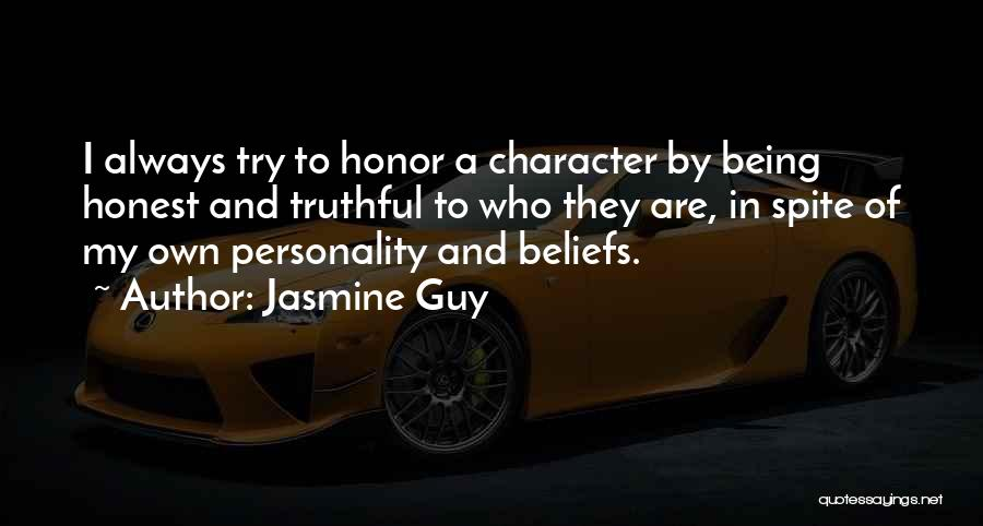 Truthful And Honest Quotes By Jasmine Guy