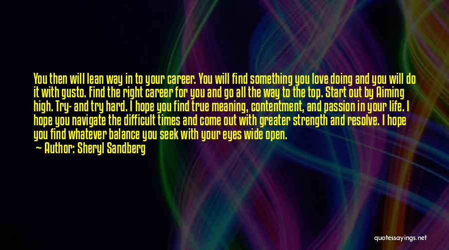 Try Hard Love Quotes By Sheryl Sandberg