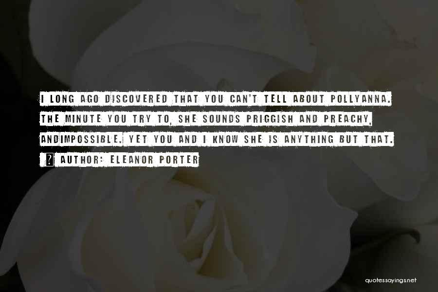 Trying The Impossible Quotes By Eleanor Porter