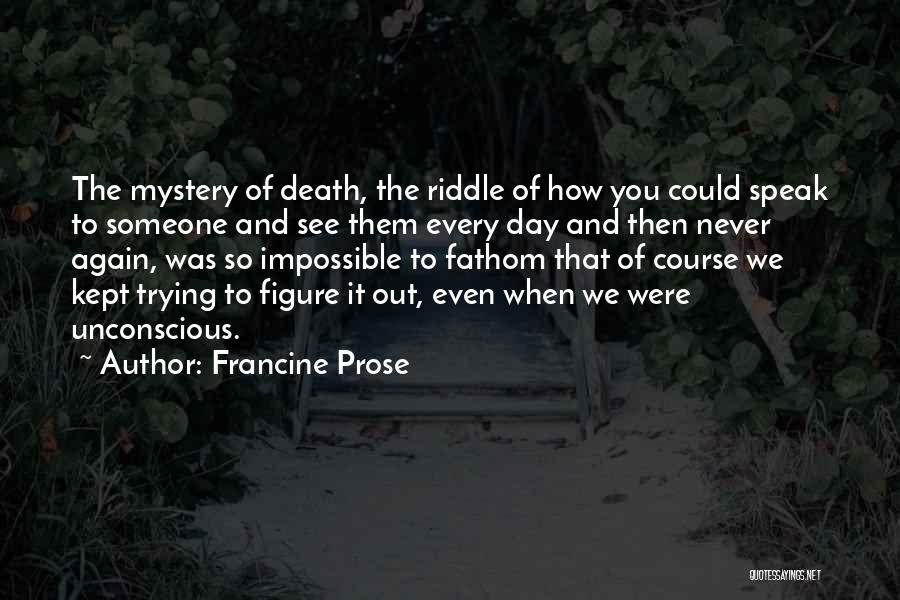 Trying The Impossible Quotes By Francine Prose
