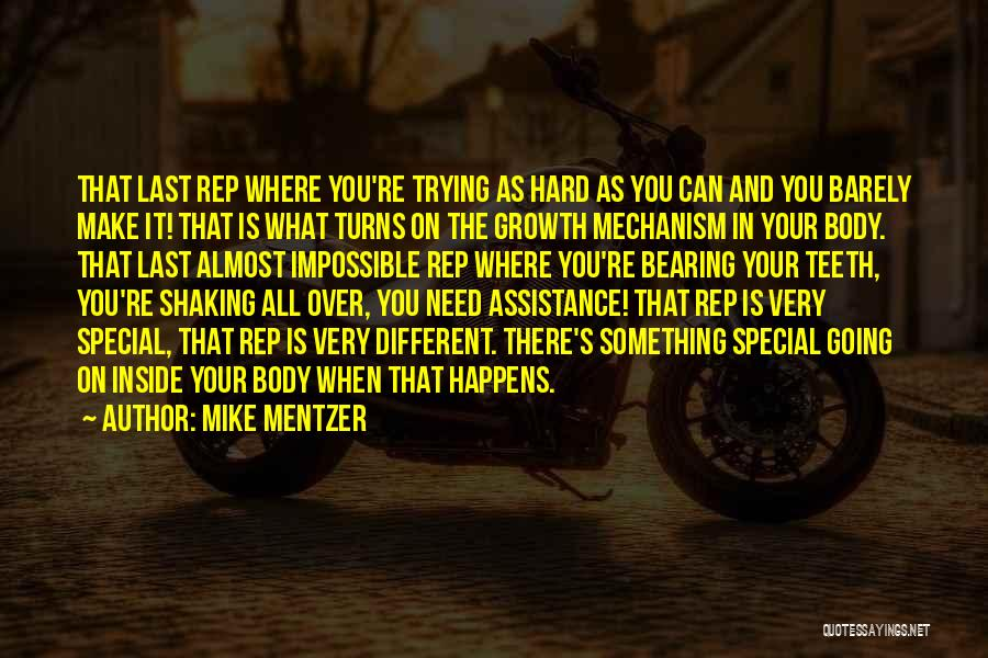 Trying The Impossible Quotes By Mike Mentzer