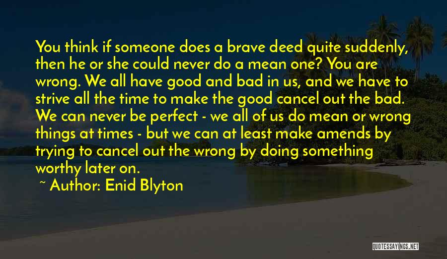 Trying To Be Perfect Quotes By Enid Blyton