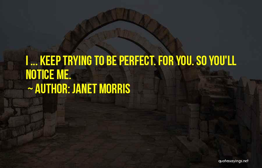 Trying To Be Perfect Quotes By Janet Morris