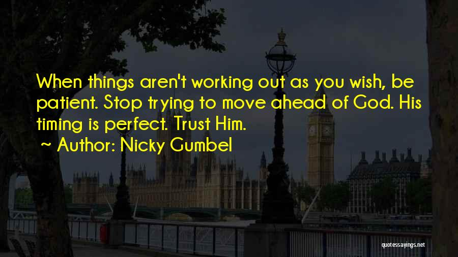 Trying To Be Perfect Quotes By Nicky Gumbel