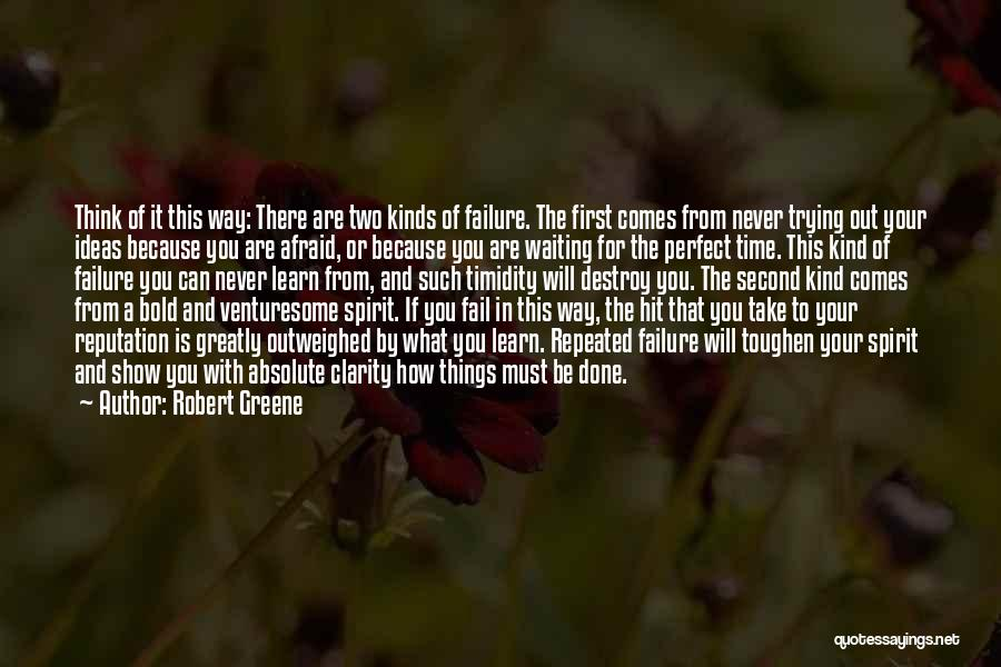 Trying To Be Perfect Quotes By Robert Greene
