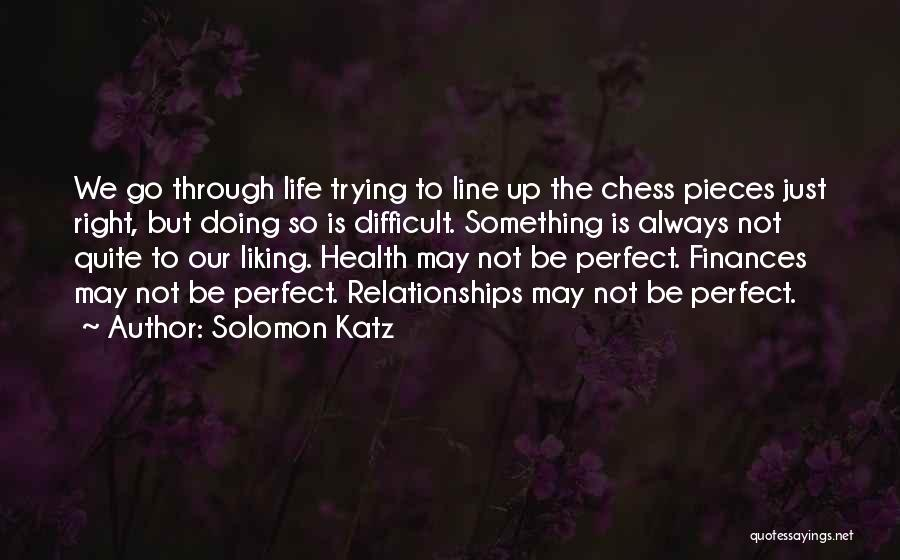 Trying To Be Perfect Quotes By Solomon Katz