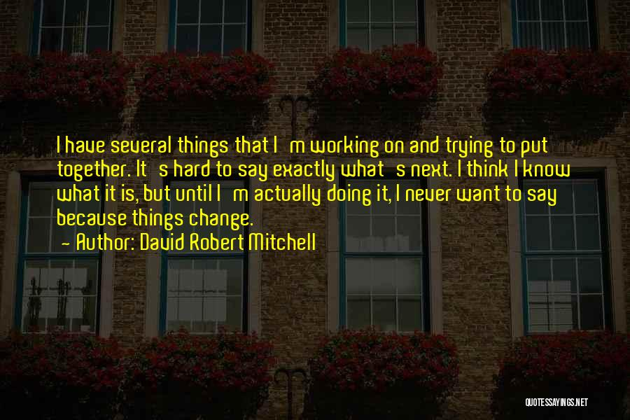 Trying To Change For Someone Quotes By David Robert Mitchell