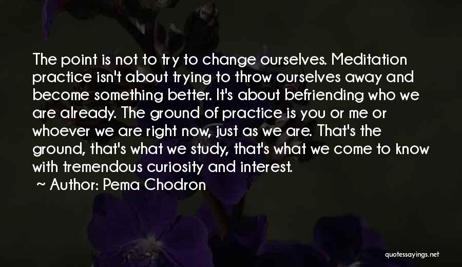 Trying To Change For Someone Quotes By Pema Chodron