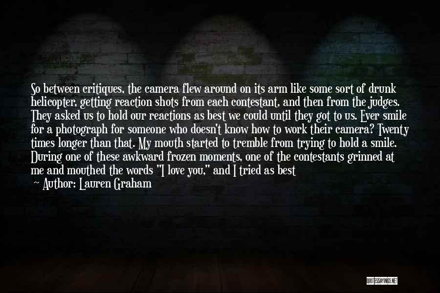 Trying To Hold Onto Love Quotes By Lauren Graham