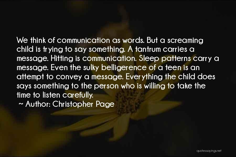 Trying To Say Something Quotes By Christopher Page