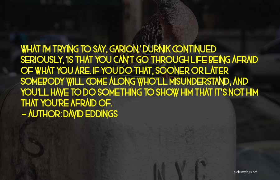 Trying To Say Something Quotes By David Eddings