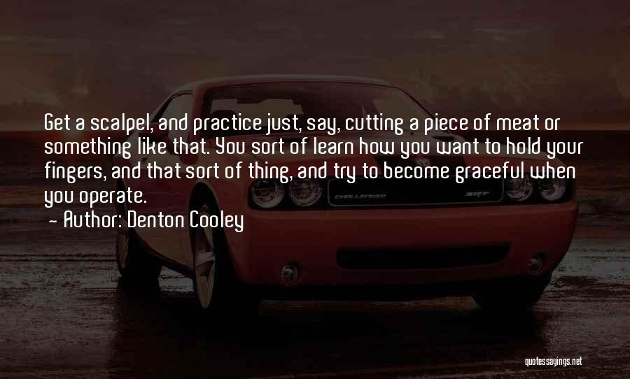 Trying To Say Something Quotes By Denton Cooley