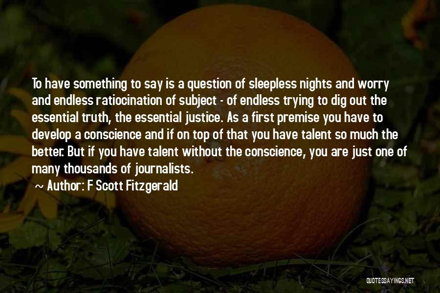 Trying To Say Something Quotes By F Scott Fitzgerald