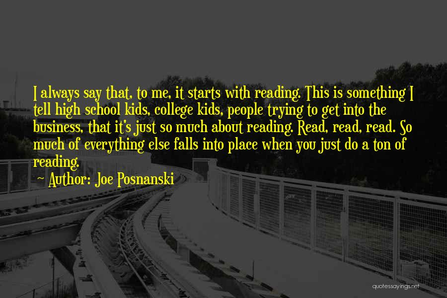 Trying To Say Something Quotes By Joe Posnanski