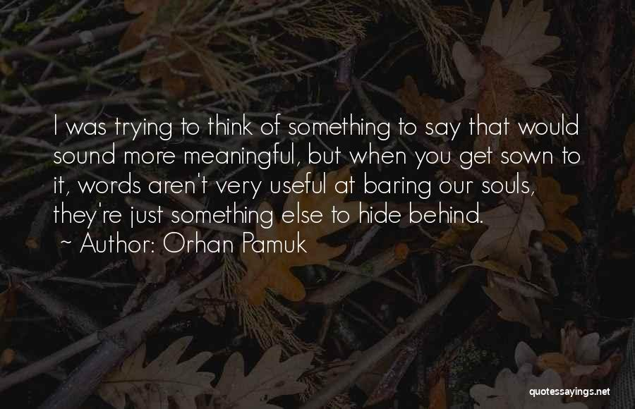 Trying To Say Something Quotes By Orhan Pamuk