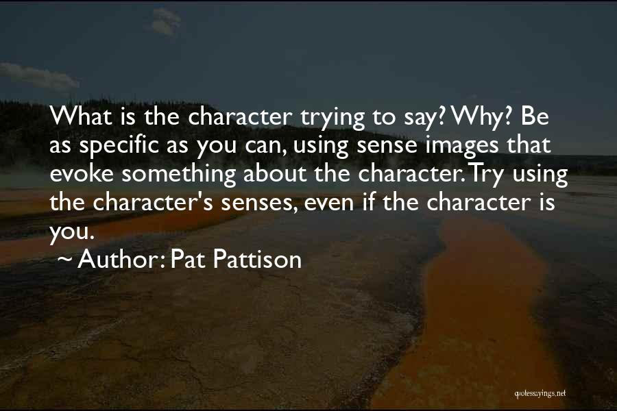 Trying To Say Something Quotes By Pat Pattison