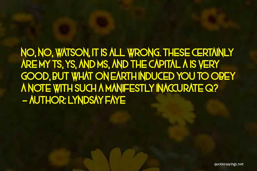 Ts Quotes By Lyndsay Faye