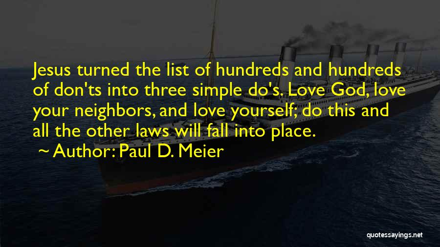 Ts Quotes By Paul D. Meier