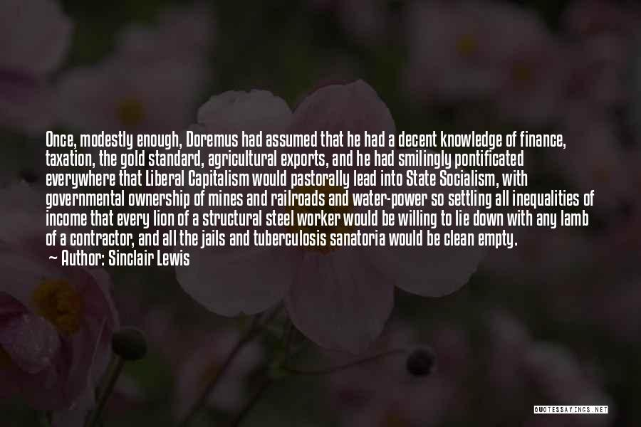 Tuberculosis Quotes By Sinclair Lewis