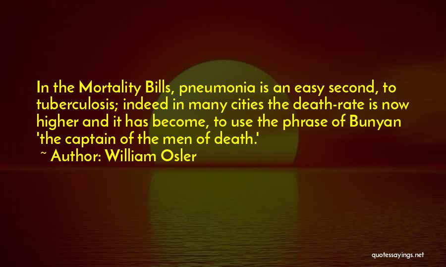 Tuberculosis Quotes By William Osler
