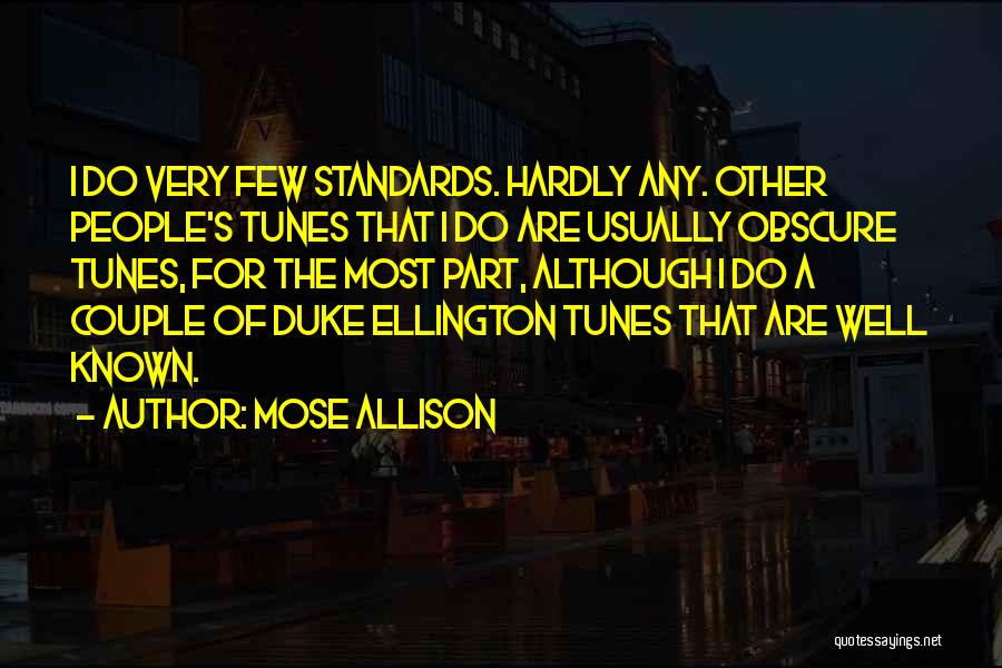 Tunes Quotes By Mose Allison