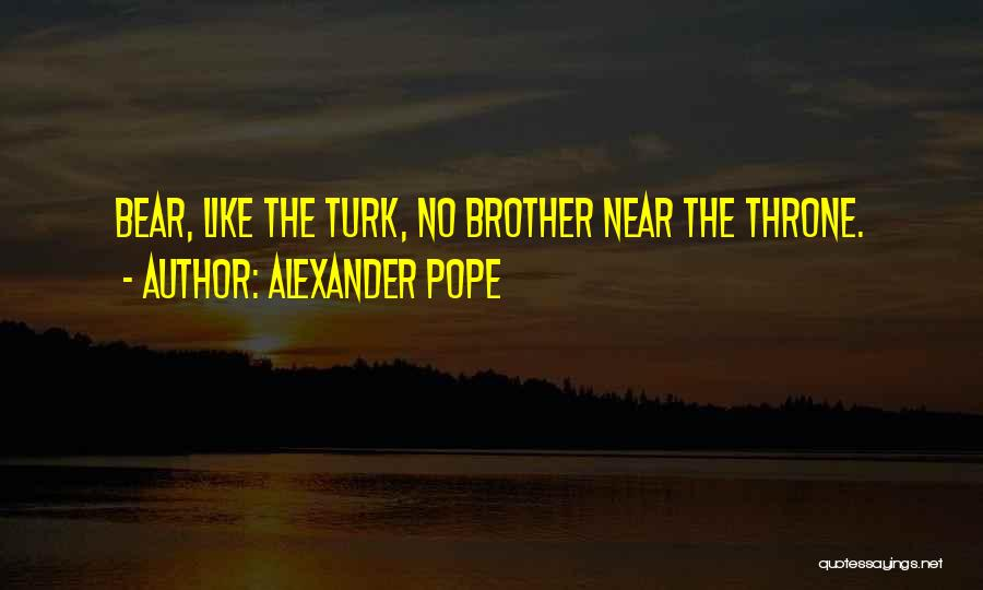 Turk Quotes By Alexander Pope
