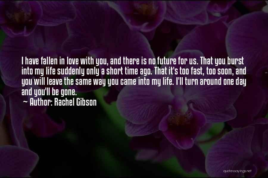 Turn Around Love Quotes By Rachel Gibson