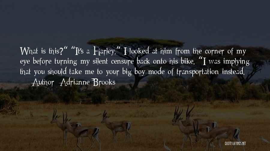 Turning My Back Quotes By Adrianne Brooks