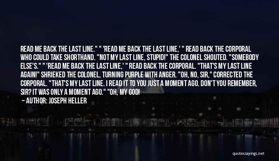 Turning My Back Quotes By Joseph Heller