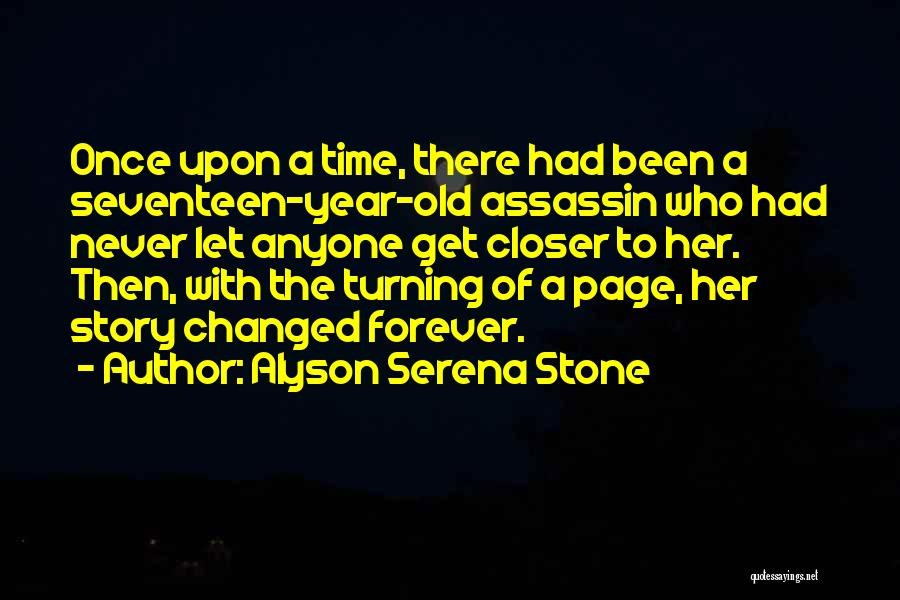 Turning Page Quotes By Alyson Serena Stone
