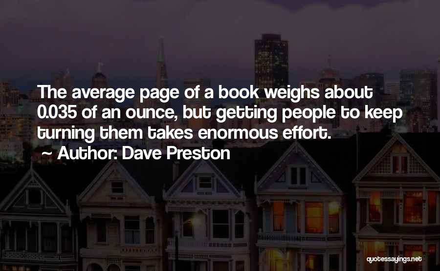Turning Page Quotes By Dave Preston