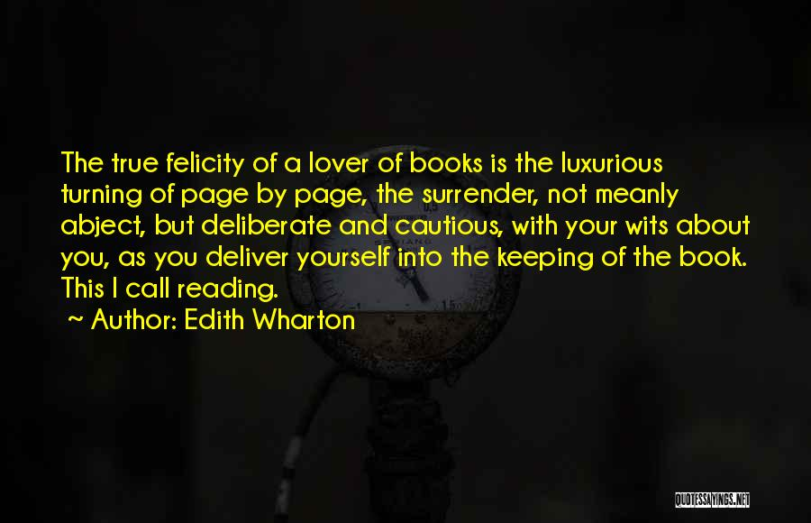 Turning Page Quotes By Edith Wharton