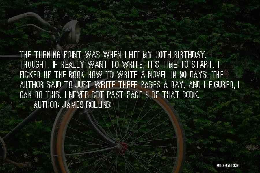 Turning Page Quotes By James Rollins