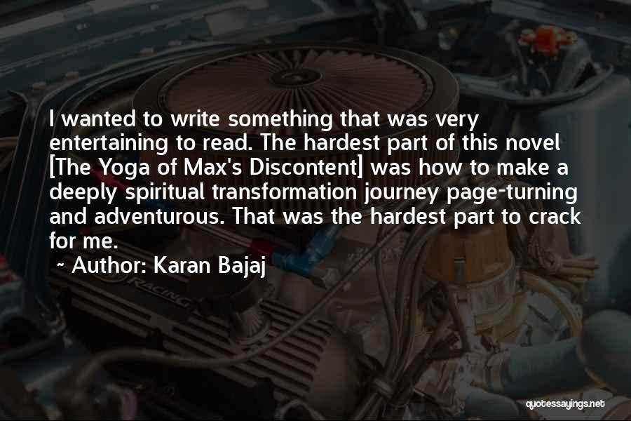 Turning Page Quotes By Karan Bajaj
